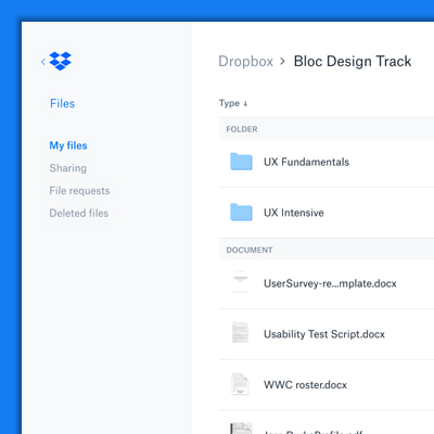 Design thumbnail: Dropbox Redesign